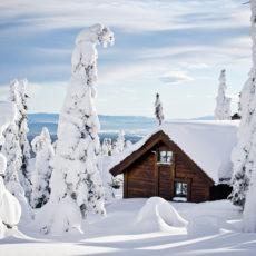 Snøbrøyting i Svaenlia